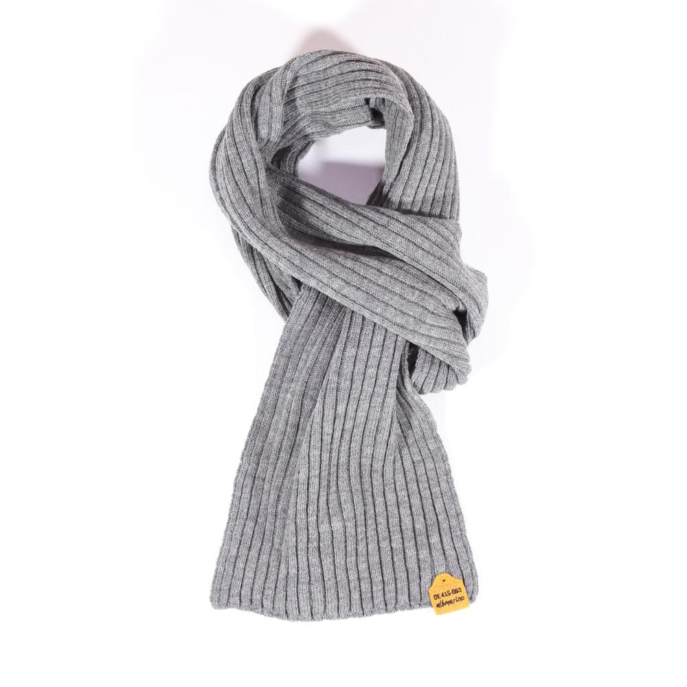 Rippen-Schal dünn | grau mel.