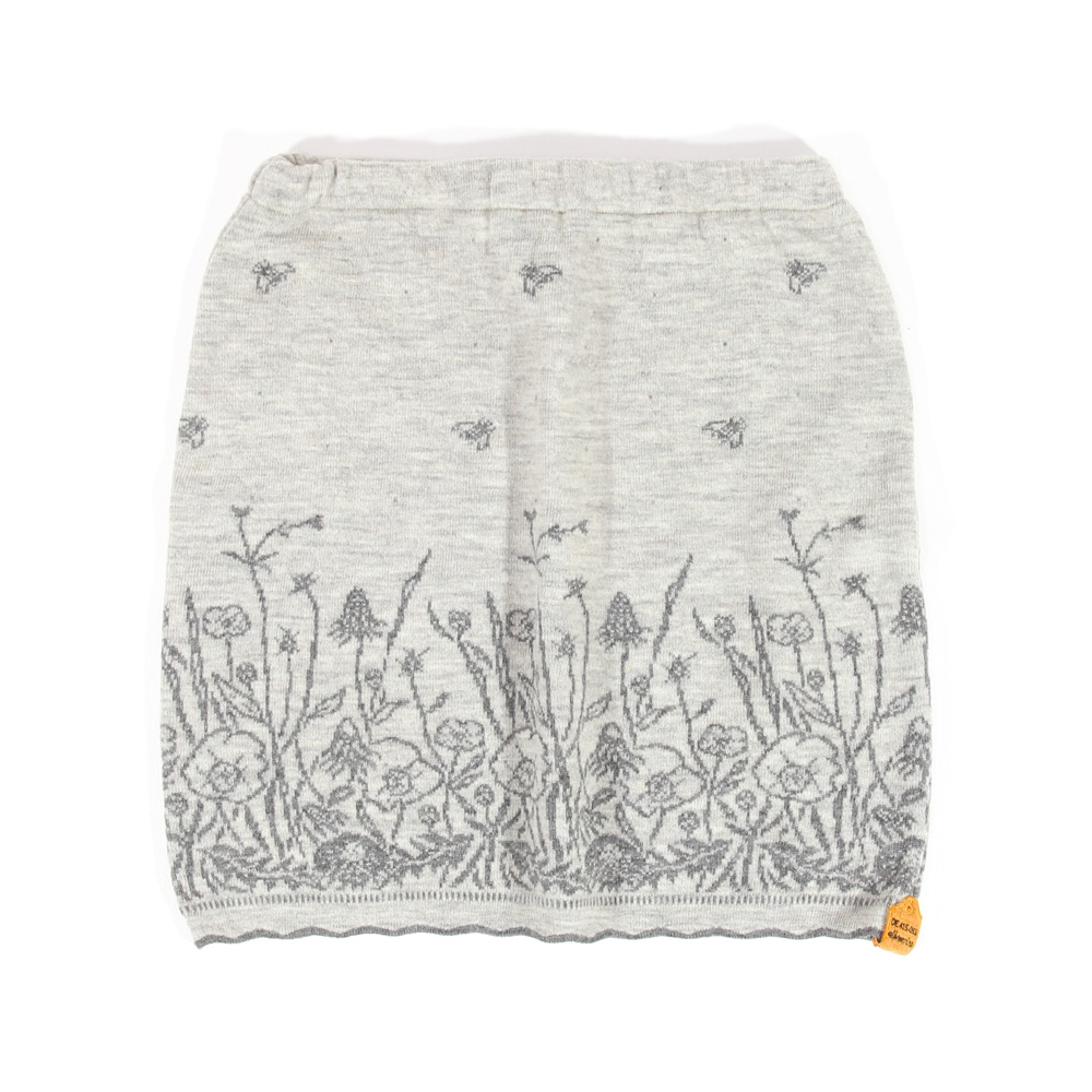 Strickrock Blumenwiese natur|grau